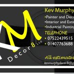 Business Card for KM Decor8 Holyhead