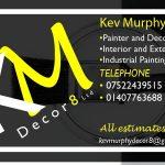 Business Card for KM Decor8 Holyhead