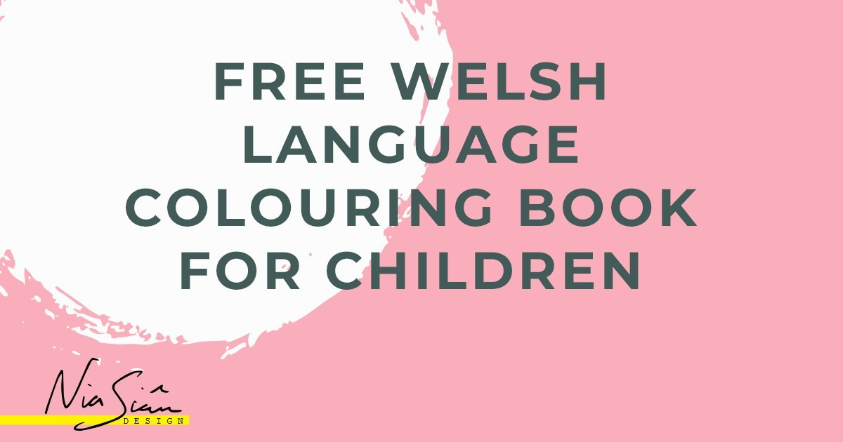 free welsh language colouring book for children